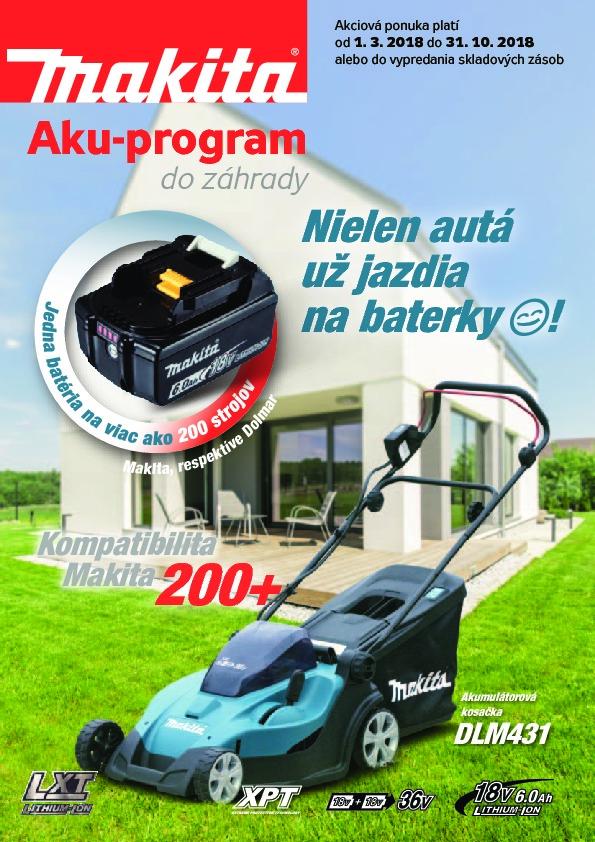 Makita akumulátorový záhradný program 2018